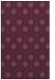 rug #643433 |  purple retro rug