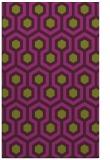 rug #643437 |  purple retro rug