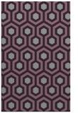 rug #643445    purple retro rug