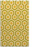 rug #643497 |  yellow geometry rug