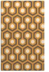 rug #643557 |  light-orange retro rug