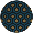 rug #643581 | round brown retro rug