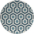 rug #643585   round white retro rug