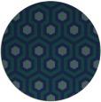 rug #643593 | round blue retro rug
