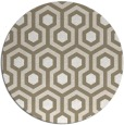 rug #643701 | round white geometry rug