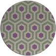 rug #643741 | round purple retro rug