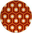 rug #643753 | round orange rug