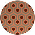 rug #643761 | round orange rug