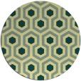 rug #643765 | round yellow geometry rug