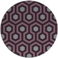 rug #643797 | round purple rug