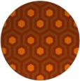 rug #643817 | round red-orange retro rug