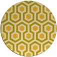 rug #643849 | round yellow geometry rug