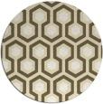rug #643853 | round yellow retro rug