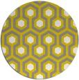 rug #643861 | round yellow retro rug