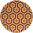 rug #643877 | round orange retro rug