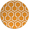 rug #643905   round light-orange retro rug