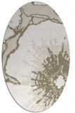 rug #646377 | oval beige rug
