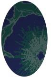 rug #646409 | oval blue abstract rug