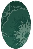 rug #646433 | oval blue-green abstract rug