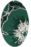 rug #646509 | oval green abstract rug