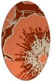 rug #646573 | oval orange rug