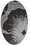 rug #646577 | oval orange popular rug