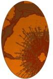 rug #646634 | oval abstract rug