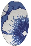 rug #646657 | oval blue abstract rug