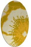 rug #646665 | oval yellow rug