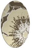 rug #646669 | oval white abstract rug