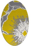 rug #646677 | oval white abstract rug