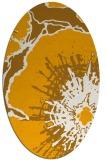 rug #646713 | oval light-orange popular rug