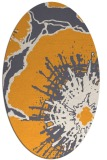 rug #646725 | oval light-orange abstract rug