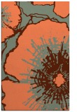 rug #646929 |  red-orange abstract rug