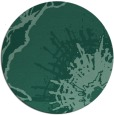rug #647137 | round blue-green abstract rug