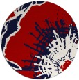rug #647321 | round red natural rug