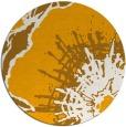 rug #647417 | round light-orange abstract rug