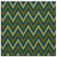 rug #647845 | square green retro rug