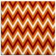 rug #647977   square orange stripes rug