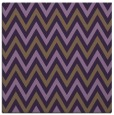 rug #648017 | square mid-brown stripes rug