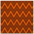 rug #648041 | square red-orange retro rug