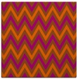 rug #648049 | square red-orange stripes rug