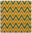 rug #648089 | square yellow stripes rug
