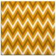 rug #648121 | square light-orange stripes rug