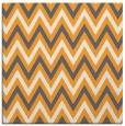rug #648133 | square light-orange stripes rug