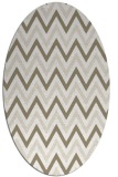 rug #648137 | oval white stripes rug