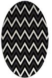 rug #648141 | oval white stripes rug