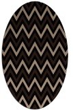 rug #648149 | oval beige stripes rug