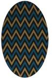 rug #648157 | oval brown rug