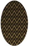 rug #648253 | oval mid-brown retro rug